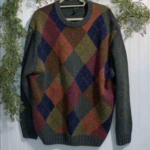 Jos A. Bank Argyle Multicolored Men's Sweater